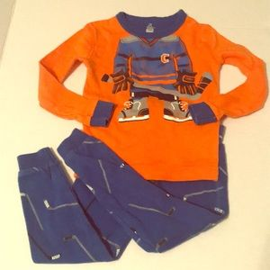 Petit Lem boys 18 months funny hockey pajamas pjs